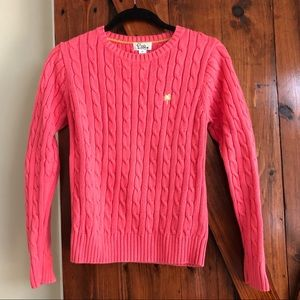 Lilly Pulitzer Coral Cable Knit Sweater